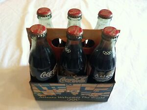 Coca Cola Olympics 1996 Atlanta Welcomes The World 6 pak 8oz Bottles