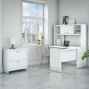 Office By Kathy Ireland Echo L Shaped Desk Hutch And Cabinet