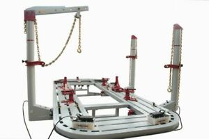 22 Feet Long Auto Body Shop Frame Machine With 3 Towers 360 Degree Ready To Ship