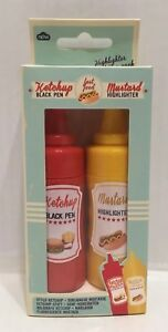 Npw usa Mustard Ketchup Highlighter Pen Set
