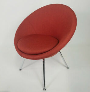 Allermuir Conic Red Upholstered Luxury Contemporary Chair