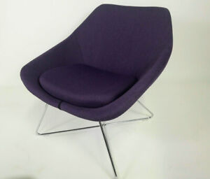 Allermuir Open Purple Upholstered Luxury Contemporary Chair