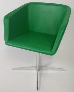 Gordon International Silhouette Faux Leather Luxury Contemporary Chair green