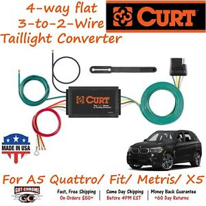 56190 Curt 4 way Flat Trailer Wiring Connector Harness Fits Acura Mdx
