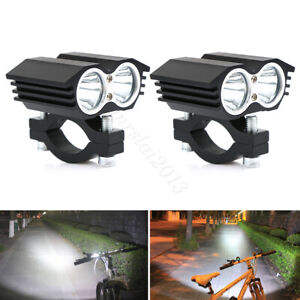 1 Pair 20w T6 Led Motorcycle Atv Boat Spot Driving Headlight Fog Lights Lamp