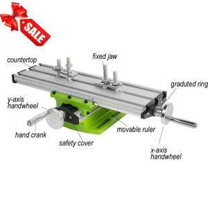 Adjustable Milling Machine Cross Sliding Table Vise For Diy Lathe Bench Drill