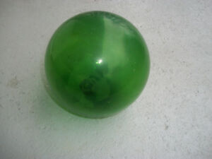 Vintage Green 5 1 2 Glass Fishing Net Float Ball Nautical Maritime Buoy
