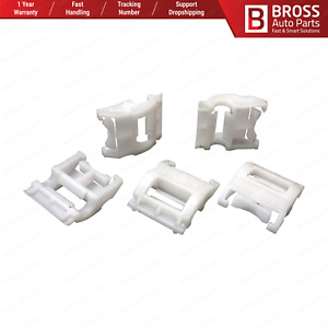 Bross Bcf5020 10 Pieces Side Moulding Clip White For Renault 7703077256