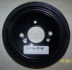 1966 68 Chevy Big Block 2 Groove Crankshaft Pulley Powder Coated 3876844