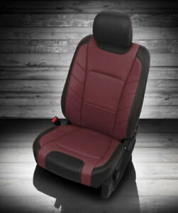 2017 2018 Ford F 250 Xlt Supercrew Katzkin Leather Seat Covers Jumpseat Med Red