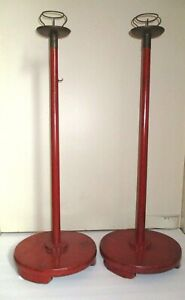 Tall Candle Stands Rosokutate Shokudai Lacquered Keyaki Wood Japan C 1890