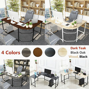 L shaped Corner Desk Computer Gaming Desk Laptop Table Office Home Workstation