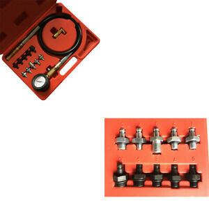 New 12pc Deluxe Diagnose Car Garage Tool Engine Oil Pressure Tester Case