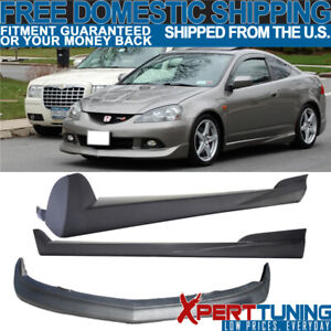 Fit Acura Rsx 05 06 Pu Mugen Style Front Bumper Lip Spoiler Side Skirt