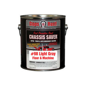 Chassis Saver Paint Stops And Prevents Rust Gray 1 Gallon Can Ucp98 01