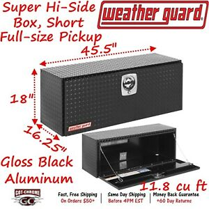 347 5 02 Weather Guard Black Aluminum Super Hi Side Box 45 Truck Toolbox