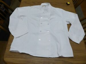 Best val White Chef Coat Sz Men s Large 44 46 New No Tags