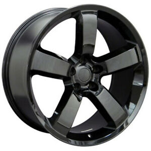 Black Wheel 20x9 W 20mm Offset For 2006 2015 Dodge Charger Owh1063