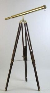 Harbormaster Brass Telescope On Tripod Telescope Wooden Tripod Nautical