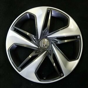 2019 Honda Civic Oem 16 Silver charcoal Hubcap Wheelcover 44733 tba a25