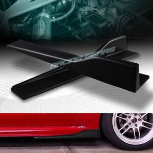 2pc Universal Black Side Skirt Rocker Splitters Winglet Canard Diffuser 23 5 X4