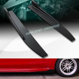 2pc Universal Black Side Skirt Rocker Splitters Winglet Canard Diffuser 31 X 4