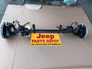 2007 2009 Jeep Wrangler Jk Front I Beam 2 Wheel Drive differential Oem Axle