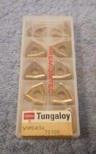 Tungaloy Carbide Inserts Wnmg 434 Grade T5105 Pack Of 10