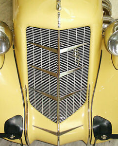 1935 851 1936 852 Auburn Automobile Grille Chevrons Grill Part Speedster Chevron