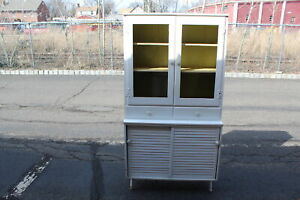 Antique Country Farm Hutch Cabinet Cupboard Shabby Chic Drs Office Mastercraft