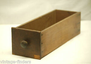 Old Vintage Wooden Treadle Sewing Machine Drawer W Wooden Handle Storage Decor