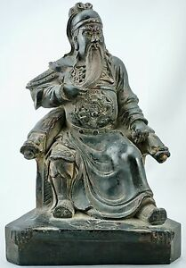Ming 17th Century Chinese Bronze Of Guan Yu Zhen Wu Weituo Or Guandi