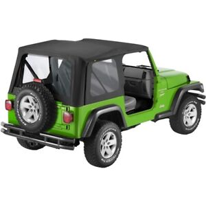 51178 35 Bestop Replace a top Black Clear Windows For Jeep Wrangler 2003 2006