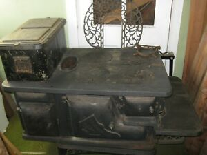 Antique Acorn Brand Kitchen Stove For A Home All Cast Iron Old Wood Burning