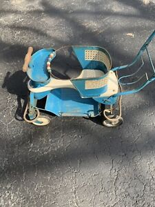 Vintage Taylor Tot Wood And Metal Baby Buggy Stroller Walker