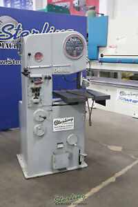16 Used Doall Vertical Bandsaw For Metal Cutting Mdl 16 2 A5342