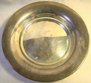 Sterling Silver Vintage Watson P 12 Candy Dish Unusual Wispy Patina
