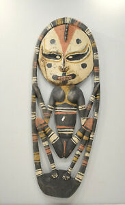 Papua New Guinea Mask Samban Ancestor Latmul Tribe Guardian Mask
