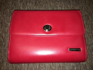Franklin Covey Planner Binder Organizer Red 6 ring Beautiful