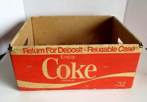 Coca Cola Box Crate Case Cardboard Wire Frame Stout Stack Stak Vtg 1977 Gaylord