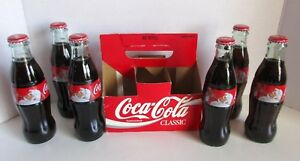 Coca Cola 6 Pack Holiday Christmas Bottle Carrier 2014 8 oz Sealed No Refill