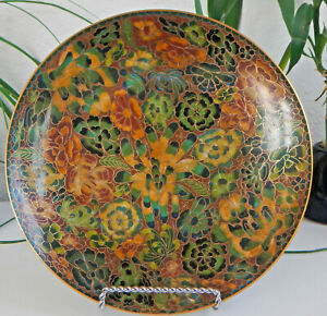 Plate Charger Cloisonn Plate Chinese Cloisonn Plate Collectible