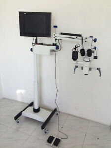 5 Step Floor Stand Dental Microscope Motorized With Accessories