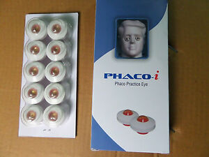 Phaco Practice Eye pack Of 50 Pcs Ophthalmic Teaching Training Device Mfg