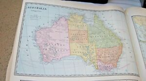 1933 Map Of Australia From The Commercial Atlas Of The World