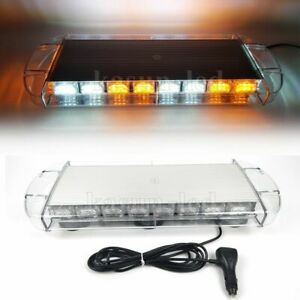 21 Inch Amber White Led Emergency Strobe Light Car Truck Roof Top Warning 60w