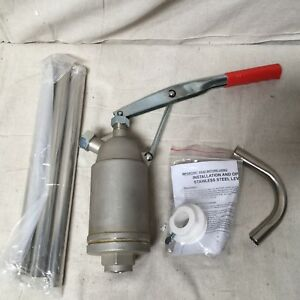 Action Pump Stainless Steel 5500 Hand Drum Pump 3 4in Od