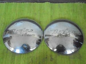 41 42 45 46 47 Dodge Dog Dish Hubcaps 10 Pair Hub Caps 1941 1942 1945 1946 1947