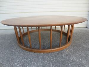 Lg Iconic Drexel Profile Coffee Table Mid Century Modern John Van Koert Spindle