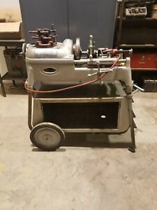 Ridgid 535 Pipe Threader On Wheeled Cart With 1 2 To 2 Die Heads Vgc